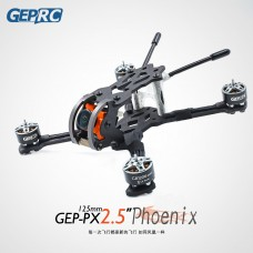 125mm Wheelbase FPV Drone Frame Kit Unfinished for 2.5 Inch Propellers Ture X Structure GEP-PX2.5