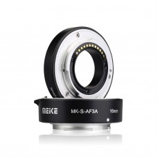 Auto Focus Macro Extension Tube Adapter Ring 10mm+16mm for Sony Mirrorless E- & FE-Mount MK-S-AF3A