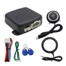 Car Alarm System Keyless Entry Push Engine Start Stop Button RFID Lock System for 12v Cars