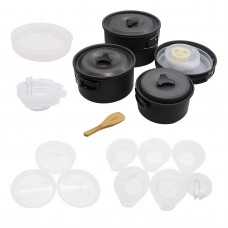 4-5 Person Camping Cookware Set Aluminum Camping Pot Set For Cooking Tableware