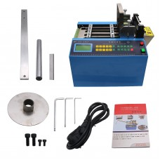 YS-100 Automatic Heat shrink Tube Cutting Machine Cable Pipe Cutter with Thick Knife110V/220V