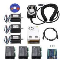 5 Axis CNC Kit Nema 23 Stepper Motor 57+DM542 Stepper Motor Driver+MACH3 USB CNC 5 Axis Control Card