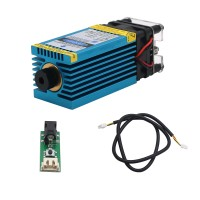 5.5W 450nm Blue Laser Module Laser Engraving and Cutting TTL Module 5500mw for Stainless Steel 3mm Wood