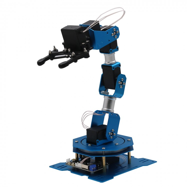 6DOF Robot Arm 6-Axis Aluminum Robotic Arm with Servos Finished