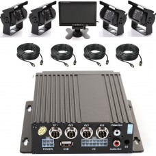 4CH Mobile Car DVR Recorder & 4 IR Night Version Camera & Cables & 7'' LCD Screen Kit