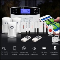 GSM Alarm Security System Wireless Home Security Alarm SOS Button Door Sensor Volume Recognition Kit