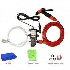 12V High Pressure Car Washer Portable Car Washer Machine Water Gun Pump Cleaner Car Care Package 1