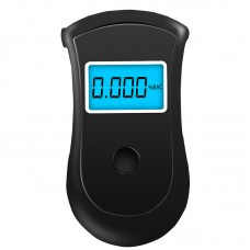 Breath Alcohol Tester Portable Breathalyzer Alcohol Tester LCD Screen Blue Backlight YSK001