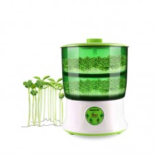 US 110V 20W Automatic Bean Sprout Machine 2-Layer Automatic Bean Sprouter Multifunctional DY-4102