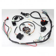 Complete ATV Wiring Harness Kit QUAD Go Kart Wiring Harness 8Pole Magneto Stator for CG125 150 250CC