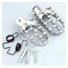Footrest Foot Pegs Foot Pedals for Yamaha PW50 PW80 TW200 Kids Dirt Bikes Silver