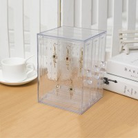 3-Drawer Acrylic Earring Display Stands Jewelry Display Stand w/ Clear Panels for 108 Pairs Earrings