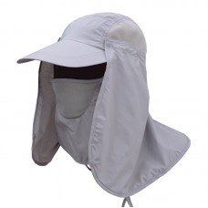 Outdoor Sun Hat with Neck Flap for Men 360° UV Protection Removable Neck Flap Fishing Hunting Hiking