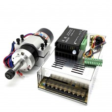 ER11 Brushless Spindle 500W + Clamp Base + WS55-220 BLDC Motor Driver Controller + Power Supply