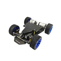4WD Smart Car Chassis RC for STM32 Dual Servo MG996R without Encoder Standard Version Unfinished