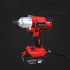 Brush Cordless Electric Wrench Impact Socket Wrench with 12800mAh Battery Charger 220V EU
