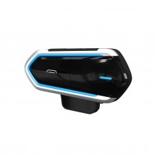 Motorcycle Helmet Bluetooth Headset Waterproof Rechargeable Handsfree Call Music FM Radio QTB35