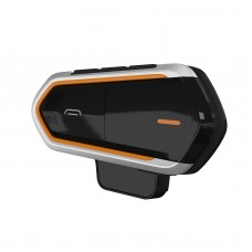 Bluetooth Motorcycle Helmet Intercom Bluetooth Headset Waterproof with FM Radio QTBE6