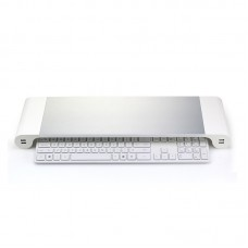 Laptop Monitor Stand Riser w/USB Charging Ports for Multiple Devices & Keyboard EU/US/AU Plug