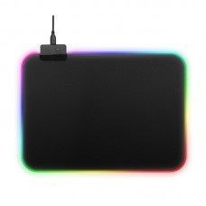Gaming Mouse Pad LED Large RGB Mouse Pad Colorful Mat for PC Computer S Size 350x250x3mm