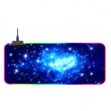 Gaming Mouse Pad LED Large RGB Mouse Pad Colorful Keyboard Mat for PC Computer GMS-X5 800x300x4mm