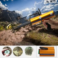 AKS Long Range Gold Metal Detector Gems Diamond Finder with Five Antennas Handheld Type
