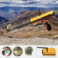 AKS Long Range Gold Metal Detector Gems Diamond Finder with Six Antennas Handheld Type