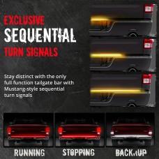 60'' LED Tailgate Light Bar Sequential Turn Signal Break Rear LED Strip for Pickup Truck Wrangler