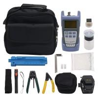 10pcs/set Fiber Optic FTTH Tool Kit SKL-6C Fiber Cleaver Optical Power Meter VFL
