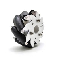 """1pc 100mm/4"""" Mecanum Wheel Aluminum Alloy Omini Wheel without Coupling  for Robot Car"""