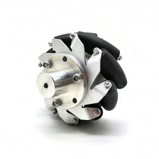 "1pc 100mm/4"" Mecanum Wheel Aluminum Alloy Omini Wheel w/ Coupling for 6mm Hub Robot Car"