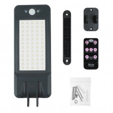 60 LED Solar Motion Sensor Light Outdoor Remote Control Waterproof Adjustable Three Modes for Garden