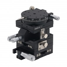 4-Axis XYZR Micrometer Linear Stage Manual Optical Stage Accurate Position 60x60mm SEMXYZR60