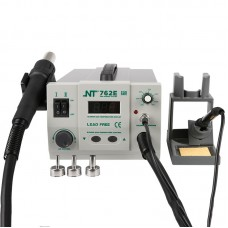 NT-762E 2 in 1 BGA Lead-free Adjustable Hot Air Rework Station Soldering iron digtal screen 750W For CPU PCB