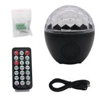 16-Color LED Stage Lights Bluetooth Speaker Crystal Magic Ball Light Remote Control USB 5V Recharge