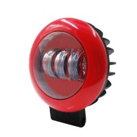 1pc 30W Red Round Off-road Spotlight LED Working Lamp for SUV Off-Road Vehicles Boat Motorcycle