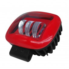 1pc 30W Red Rectangle Off-road Spotlight LED Spotlight Boat for SUV Off-Road Vehicles Boat Motorcycle