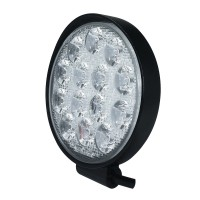 1pc 42W 4200LM Round Off-road Spotlight LED Work Light for Truck Jeep ATV SUV Boat Most Vehicles