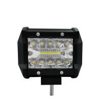 "1pc 4"" 60W Off-road Roof Light LED Work Light Flood Beam for Truck SUV Boat Crane Forklift"