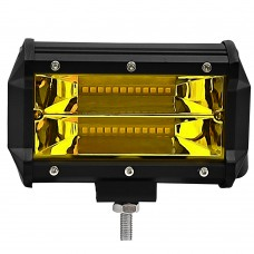 "1pc 5"" 72W Yellow Light Off-Road Spotlight LED Work Light for Truck SUV Vehicles Boats Lighting"