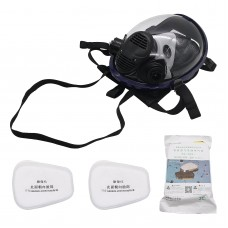 7pcs/Set Full Face Gas Mask Full Face Respirator Mask for Painting Spraying Welding Manufacturing