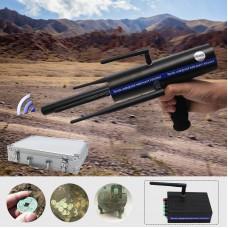 AKS Long Range Gold Metal Detector Gems Diamond Finder Black w/ Six Antennas Aluminum Carry Case