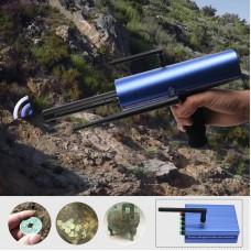 AKS Long Range Gold Metal Detector Gems Diamond Finder Blue w/ Six Antennas Cardboard Box Packing