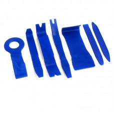 7pcs Blue Car Trim Removal Tool Set Kit for Audio System Panel Dashboard Thick PE Bag Packing