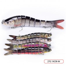 14cm 13.5cm Joint Lure Live Fishing Bait Fishing Lures for Freshwater Saltwater Fishing Swimbait