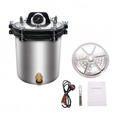 22L Pressure Steam Sterilizer Autoclave (Inner Container 18L) Anti-Burning Type Hospital Health 220V
