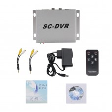 Mini DVR Recorder 1CH Video & Audio Input Support SD Card Two Resolution Five Record Modes SC-DVR