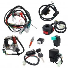 Set of ATV Wiring Harness QUAD Dune Buggy Wiring Harness CDI Electric Start for 50 70 90 110CC