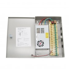 12V 20A 18-Channel CCTV Security Camera Power Supply Distribution Box Multiple Protections