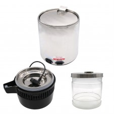 4L Dental Water Distiller Pure Water Purifier Filter Stainless Steel Body w/Glass Bottle 75W MZ-1